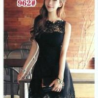 Jual Baju brukat brokat lace dress fashion import midi dress Murah