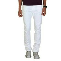 celana jeans standar putih / levi's putih regular jeans / levis white