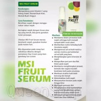 Jual NEW FRUIT SERUM MSI ORIGINAL PENCERAH ALAMI HERBAL Murah