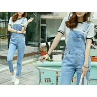 jumpsuit jaens wanita overall playsuit high quality