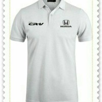 honda crv white polo shirt
