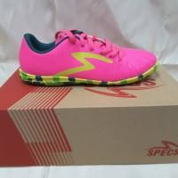 Sepatu Futsal Specs Tomahawk In Pink Green