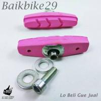 Brake Shoe Kampas Rem Sepeda Balap Pink Cute
