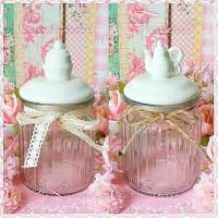 Jual Toples Tempat Wadah Kaca Glass Jar Cupcake Teapot Dekorasi Shabbychic Murah