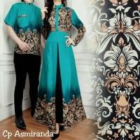 aop gamis couple batik ASMIRANDAH TOSCA cp maxi / pakaian pasangan