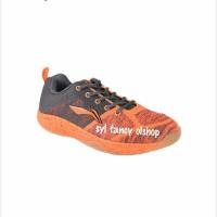 Li Ning shoes Mars sepatu badminton AYTMO51-4 black mix orange