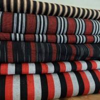 Jual kain Tenun Lurik ATBM Merah Murah