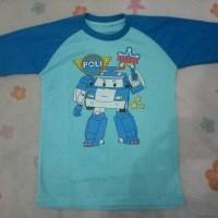 Jual kaos anak 7/8 karakter robocop poli biru size Xl Murah