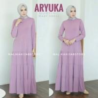 ARYUKA Gamis Busui Friendly Basic Ruffle 4 by Malika HijabStore