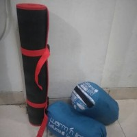 Jual Paket Sleeping Bag Lafuma Dan Matras Camping 3mm Blue Murah