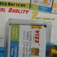 baterai vizz double power for hp sony ericson ba700