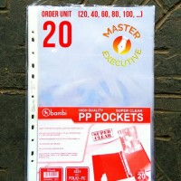 Bambi PP Pocket F4 / Folio Super Clear 5221 - Tebal 0.06 mm isi 20 Lbr