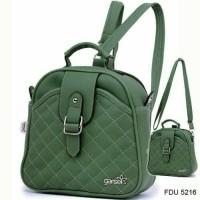 Terbaru..Tas gendong wanita hijau-tas cewek backpack murah Gf