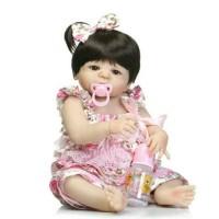 Harga boneka silikon 55cm full body silicone reborn baby doll girl | Pembandingharga.com