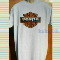 kaos/t-shirt big size VESPA MOTOR SCOOTERS terlaris xxl-xxxxl