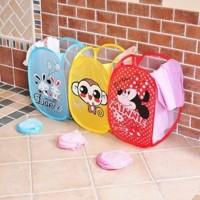 HSI Keranjang Baju Kotor Lipat Karakter Kartun Laundry Basket Hamper