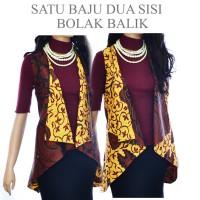 Jual Tunik vest Cardigan Batik atasan bolero A431A433  outer batik Murah