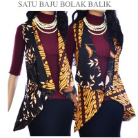 Jual Tunik vest Cardigan Batik atasan bolero A432  outer batik Murah
