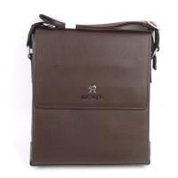 Tas Kulit Pria Slimbag Bodybag Import Branded - AIGNER GGNS BROWN