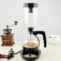 Electric Syphon Coffee Maker-Glass Jar-Luxury Coffee Maker-3 Cup