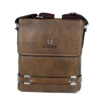 Tas Pria Slimbag Bodybag Import Branded - AIGNER ANR BROWN
