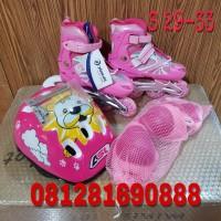 Jual sepatu roda anak fullset (body protector+helm) / inline skate Murah