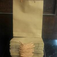 Paper Bag Shopping Bag Tas Kertas Polos Ukuran 18 x 5 x 22