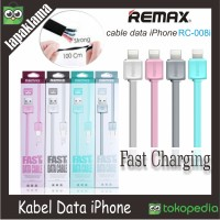 Kabel Data Remax Pipih Lightning iPhone Cable Data iPhone Ori 100%
