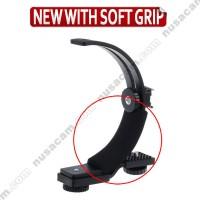 C Flash Speedlite Bracket Shape Braket Flexible Adjustable With Grip