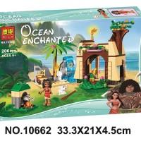 Mainan Lego Bela 10662 Ocean Echanted 206pcs Princess Vaiana Moana Oce