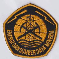 Bordir Kementerian ESDM Badge
