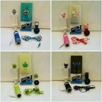Jual Paket Hemat Karakter 4in ( Powerbank Slim Headset Superwide Tongsis ) Murah