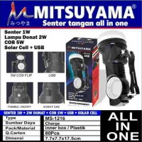 Jual Senter Mitsuyama MS-1216 Solar Cell Powerbank COB MS1216 Murah