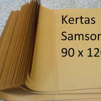 KERTAS COKLAT SAMSON KRAFT 90 Cm x 120 Cm, 80 Gr Kertas Untuk Pack