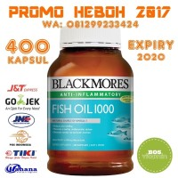 READY STOCK - Blackmores Fish Oil 1000mg 400 capsules