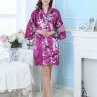PROMO baju tidur kimono satin pendek baju tidur wanita pria hadiah