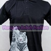 Baju 3D / Kaos 3D Kerah Glow In The Dark White Tiger