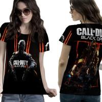 T-Shirt Kaos Wanita CALL OF DUTY 3D FullPrint 001