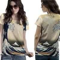 T-Shirt Kaos Wanita ABSTRACT 3D FullPrint 001