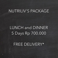 Paket Catering Diet Nutriliv 5 Hari Lunch and Dinner