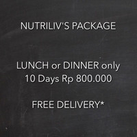 Paket Catering Diet Nutriliv 10 Hari Lunch or Dinner Only