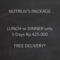 Paket Catering Diet Nutriliv 5 Hari Lunch or Dinner Only