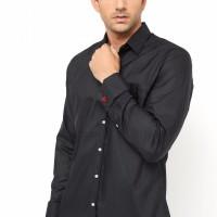Kemeja Slimfit french Cuff Model Cufflinks BLACK FRENCH CUFF
