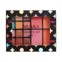 Make Up Kit Mukka Matte 802-a 12 Eyeshadow & 4 Blusher (bpom) (8994990