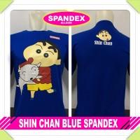 kaos baju distro kartun animasi SHIN CHAN BLUE