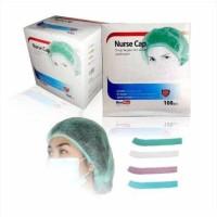 Nurse Cap Topi Perawat Penutup Kepala Non Woven OneMed box 100pcs