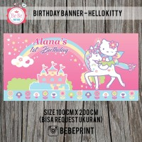Banner/Backdrop Ulang Tahun Hello Kitty
