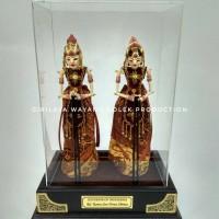 Jual Wayang Golek Rama dan Shinta miniatur Base Acrylic Murah