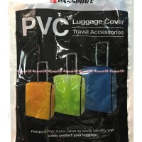 Passport Luggage Cover Accessesories Travel Sarung Koper Plastik 20inc