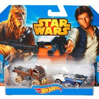 Hotwheels Star Wars ExclusivCharacter Car Han Solo and Chewbacca
